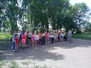 Показательные выступления авиамоделистов в пришкольном лагере МОУ СОШ им.А.В.Каляпина