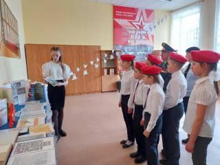Юнармейцы МОУ СОШ № 1 приняли участие в открытие музейной комнаты.
