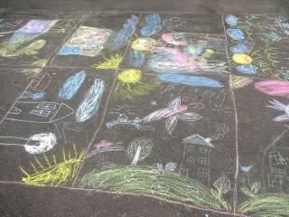 """Конкурс рисунков на асфальте """"Счастливое детство"""""""